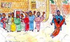 Jesus heals 10 lepers