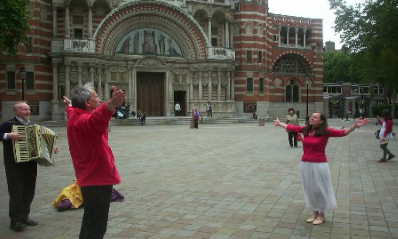 Worship outside Westminster Chapel