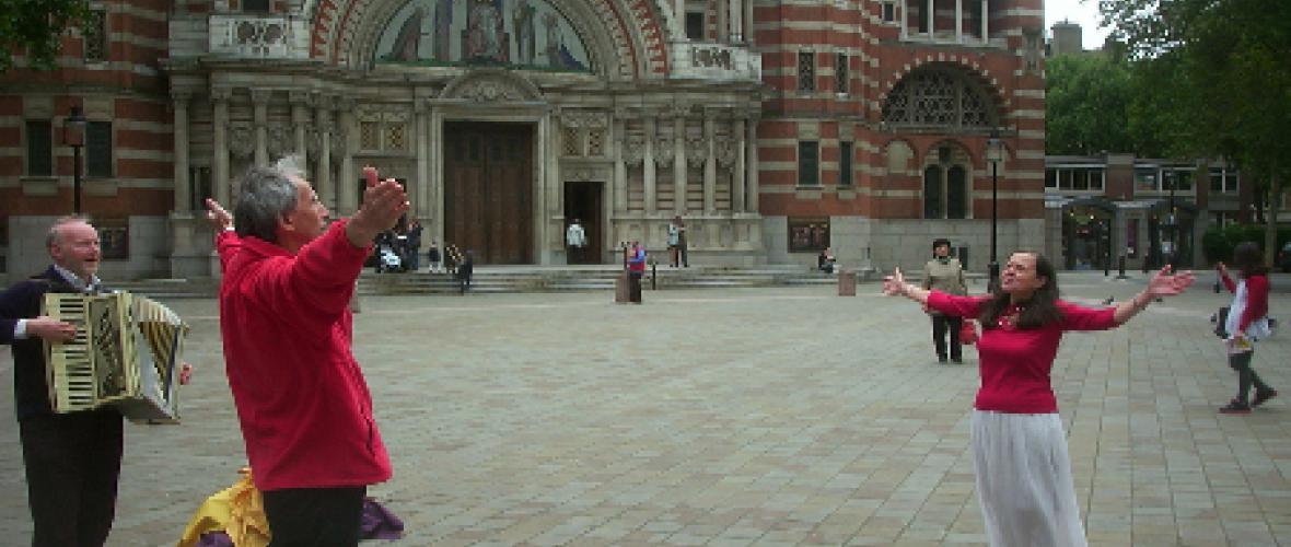 Outside Westminster Chapel